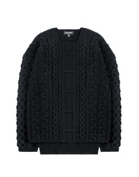 Heavy Twist knit Black / Semiover