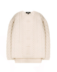 Heavy Twist Knit Ivory / Semiover