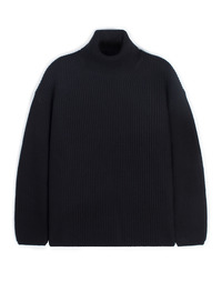 Oversize Neck Knit Black / Over Fit