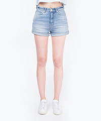 [W]Denim Half Roll-Up / Short