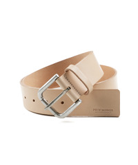Italy Leather Belt - Beige